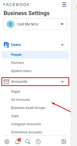 creeaza un cont nou in business manager pe facebook