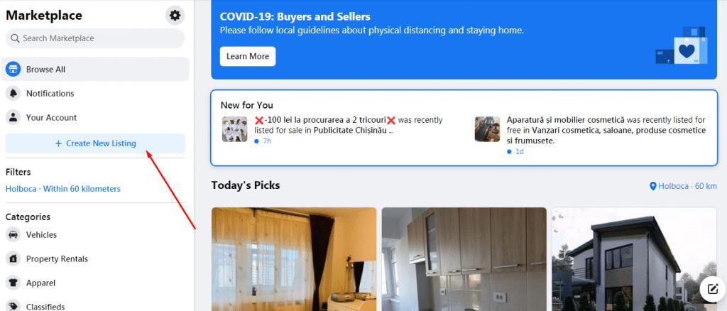 promovare pe facebook pe marketplace