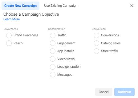 promovarea unui produs prin campanii de facebook ads
