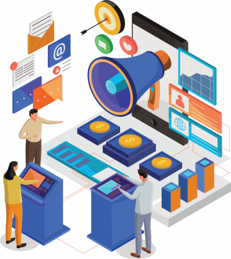 4Digital Marketing Isometric Illustration